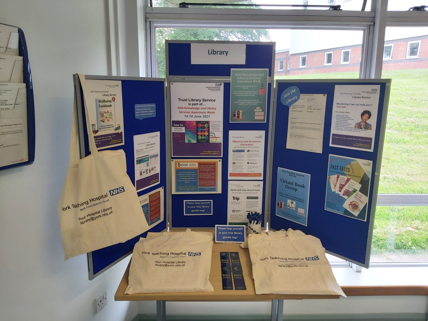 Scarborough Hospital library display