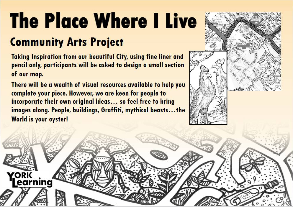 Flyer promoting The Place Where I Live project